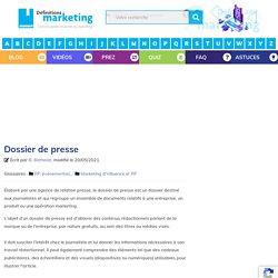 Dossier de presse - Définitions Marketing