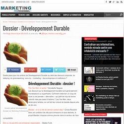 Dossier : Développement Durable