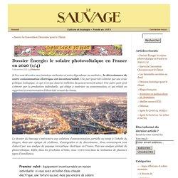 Dossier Énergie: le solaire photovoltaïque en France en 2020 (1/4)