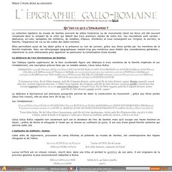 CMPC Dossier : l'épigraphie gallo-romaine ; texte intégral