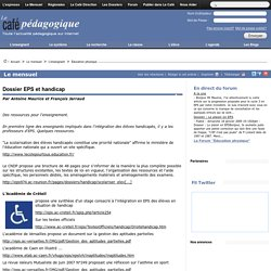 Dossier EPS et handicap