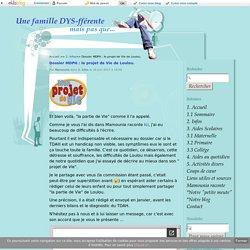 Dossier MDPH : le projet de Vie de Loulou. - Une famille DYS-fférente