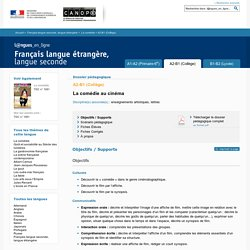 Dossier A2-B1 (Collège) - La comédie