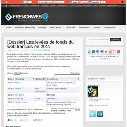 [Dossier] Les levées de fonds du web français en 2011