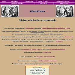 Dossier GeneaCrimes