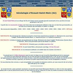 Dossier Généalogie d'Ecoust-Saint-Mein
