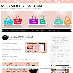 Dossier HACKATHON, la totale ! - Miss MOOC & sa Team