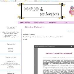 Dossier d'histoire - Marjo et ses loupiots