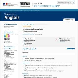 Dossier B1-B2 (Lycée) - La lutte contre l'homophobie - Anglais - Langues en ligne - CNDP