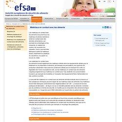 EFSA Dossier: Matériaux en contact avec les aliments