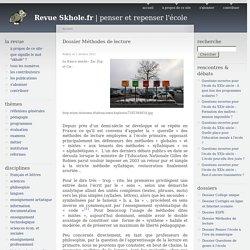 Dossier Méthodes de lecture