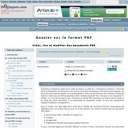 Dossier du format PDF - Créer, lire et modifier des documents PDF