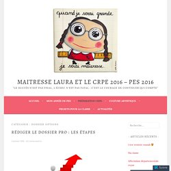 Dossier options – Maitresse Laura et le CRPE 2016 – PES 2016