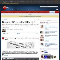 Dossier - Où en est le HTML5 ?