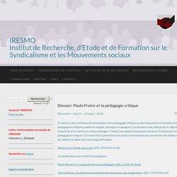 Dossier: Paulo Freire et la pédagogie critique