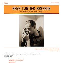 Dossier pédagogique : Henri Cartier-Bresson, 2014
