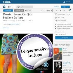 Dossier Presse Ce Que Souleve La Jupe