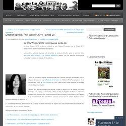 Dossier spécial, Prix Wepler 2010 : Linda Lê