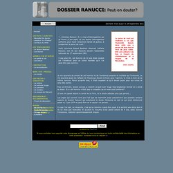Dossier Ranucci - page d'accueil