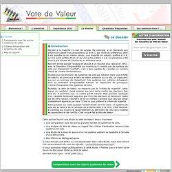 Le dossier [Le Vote de Valeur, pour renforcer la démocratie]