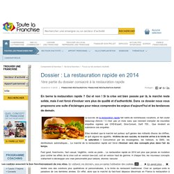 Dossier : La restauration rapide en 2014