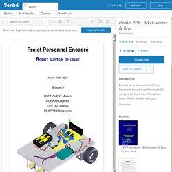 Dossier PPE - Robot suiveur de ligne