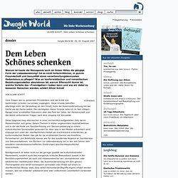 35/2007 - Dossier - Dem Leben Schönes schenken