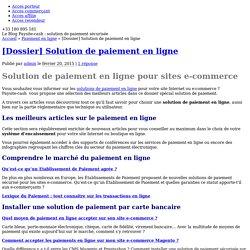 Dossier spécial : solutions de paiement en ligne