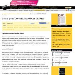 Dossier spécial COMORES & PROCES DENARD