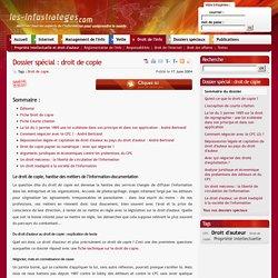 Droit de copie : dossier spécial des Infostratèges