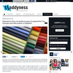 [Dossier] Le futur du textile se joue-t-il aujourd'hui? Les startups sont-elles prêtes à s'adapter?