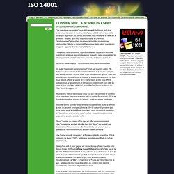 DOSSIER SUR LA NORME ISO 14001