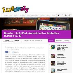 Dossier Jeux de Société, iPad, Androïd et tablettes tactiles