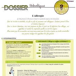 Dossier thématique - L'allergie