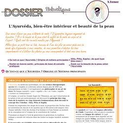 Dossier thématique - L'ayurvéda