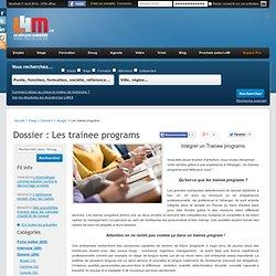 Dossier Les trainee programs Bouger, offres d'emploi Nord Pas-de-Calais