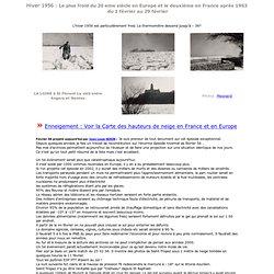 Dossier vague de froid : Hiver 1956 - fevrier 1956