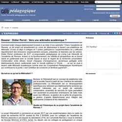 Dossier : Didier Perret : Vers une wikiradio académique ?