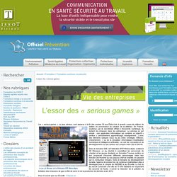 L'essor des « serious games »