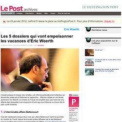 Les 5 dossiers qui vont empoisonner les vacances d'Eric Woerth - LePost.fr