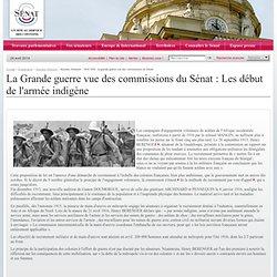 dossiers d'histoire - 1914-1918 : la grande guerre vue des commissions du Sénat