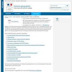 Un site : les dossiers « Se former, par thème en histoire » du portail national-Histoire-géographie-Éduscol