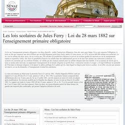 dossiers d'histoire -Les lois scolaires de Jules Ferry- Sénat