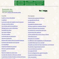 Dossiers de jardin.ch - Sommaire