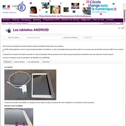 Dossiers - Les tablettes ANDROID