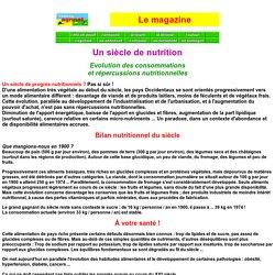 Un siècle de nutrition -Les dossiers magazine de FRANCE-AGRINET.COM