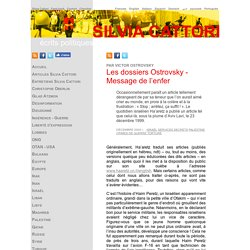 Les dossiers Ostrovsky - Message de l'enfer