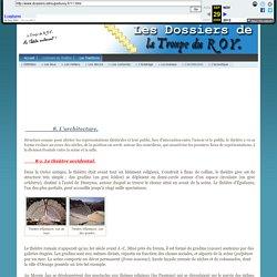 Les Dossiers de La Troupe du ROY - L'architecture