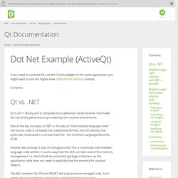 Dot Net Example (ActiveQt)