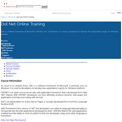 Dot Net Online Training - Online IT Guru